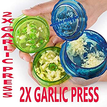 2 X Crusher and Garlic Grinder-Blue