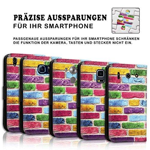 Wallet Book Style Flip Handy Tasche Case Schutz Hülle Schale Motiv Etui für Apple iPhone 6 / 6S - Design Flip MVD224