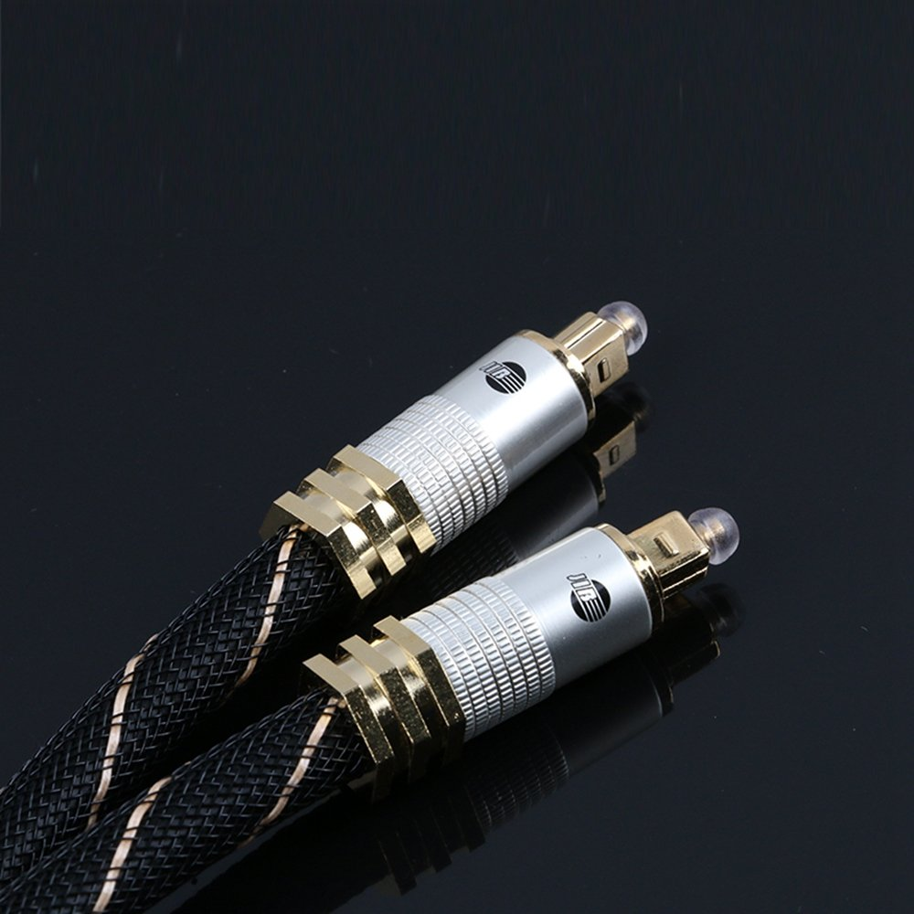 Jib Digital Glass Digital de cable, 8 mm Toslink S/PDIF Jack 2 m: Amazon.es: Electrónica
