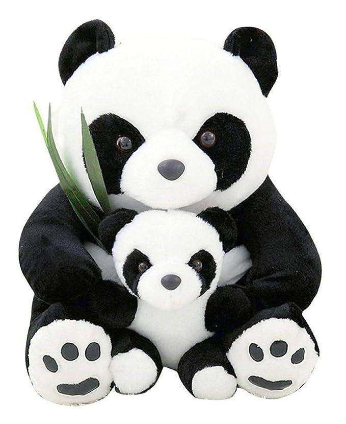 ALISHA TOYS™ Cute & Beautiful Soft Panda with Baby Teddy Bear Soft Toy for Girls / Kids / Gifting / Valentine / Anniversary / Birthday (White & Black) - 60 cm