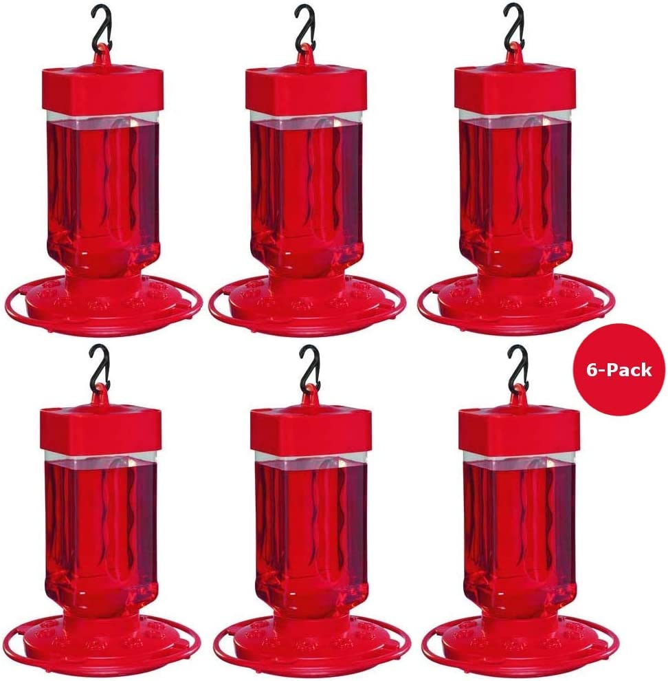 First Nature Large Hummingbird Feeder 3055 Wide Opening for Easy Cleaning 32 oz.
