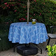 Do4U Waterproof Table Cloth Indoor/Outdoor Tablecloth With Umbrella Hole and Zipper …