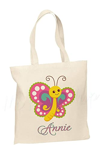 b3794b4b7576 Image Unavailable. Image not available for. Color  Personalized Cotton Tote  Bag - Kids ...