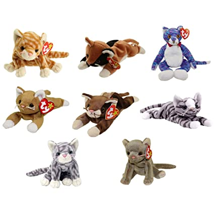 0c03c1a9c Amazon.com: TY Beanie Babies - CATS (Set of 8) (Amber, Chip, Kooky ...