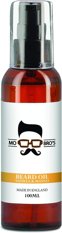Aceite para barba con fragancia de vainilla y mango de Mo Bro's