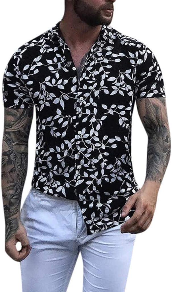 Overdose Camisas para Hombre Fiesta Manga Corta Informal Hippie Camisetas Hombres de Playa Retro Flores Hawaiian Blusa Tops Originales sin Plancha: Amazon.es: Ropa y accesorios