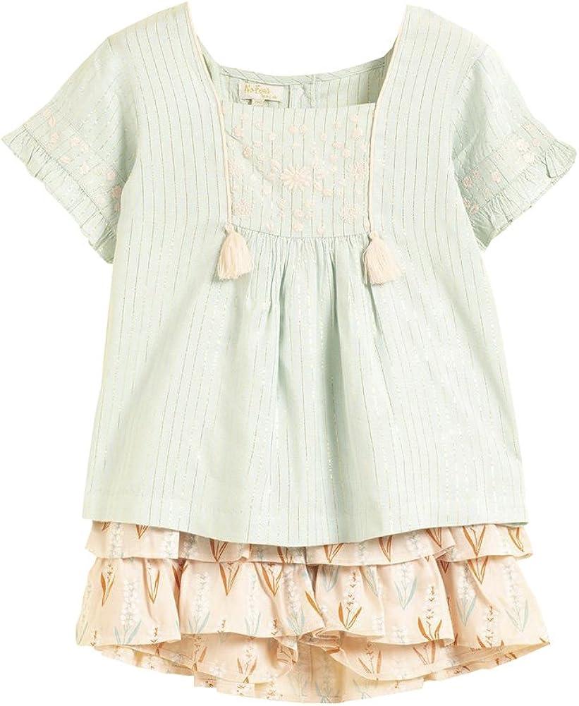 Conjunto Verano para Niña Blusa Niña + Pantalón Corto para Niña | Camiseta y Pantalón para Niña De Verano Conjunto Algodón | Ropa Niña Verano