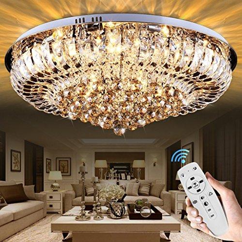 MOMO Deckenleuchte Europäische Fernbedienung Kristall Deckenleuchte, Luxus  Runde Kristall Lampe Wohnzimmer Lampe Schlafzimmer Restaurant Führte