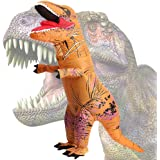 Wild Cheers Inflatable Costume Adult, Inflatable Dinosaur Costume, Fancy Dress, Blow Up T-Rex Costume for Party Gifts Halloween (Brown)