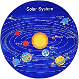 PRO RUGS 8 FEET X 8 FEET ROUND KIDS EDUCATIONAL / PLAYTIME NONSLIP AREA RUG (SOLAR SYSTEM)