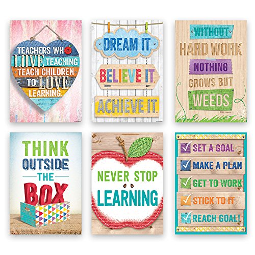 Creative Teaching Press Upcycle Inspire U 6-Poster Pack (Creative Teacher Press)