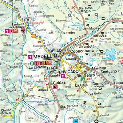 Colombia, mapa plegado de carreteras. Escala 1:1.000.000 Freytag & Berndt: Wegenkaart 1:1 000 000 Auto karte: Amazon.es: VV.AA.: Libros