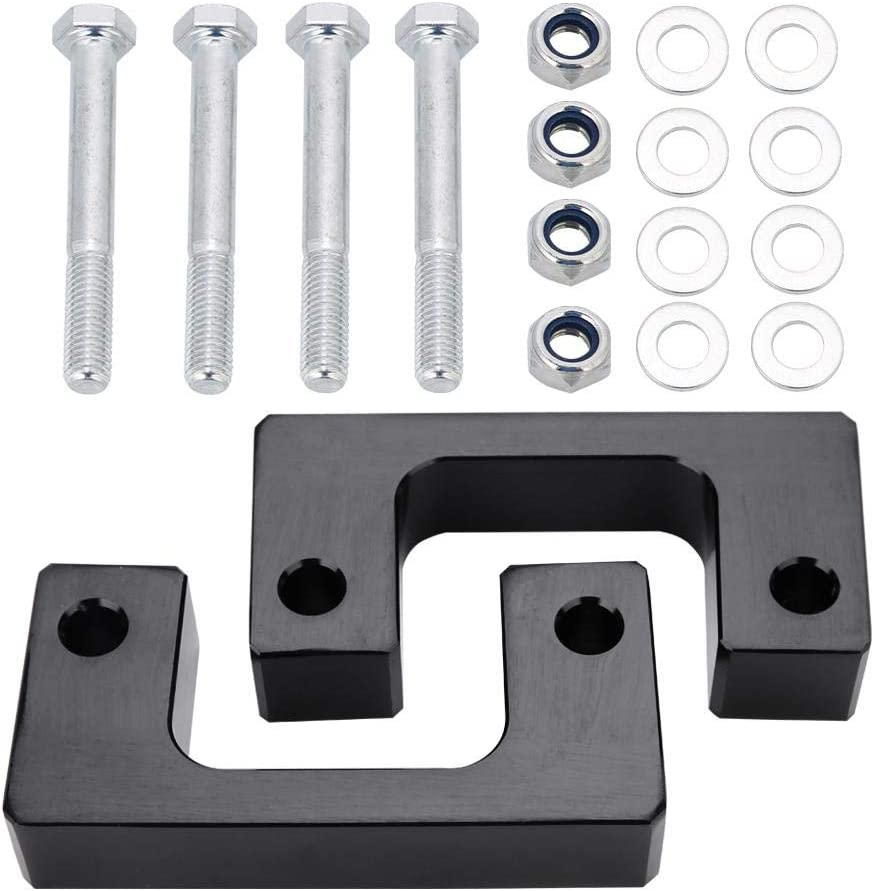 Dynofit 1 Inch-3 Inch Forged Adjustable Leveling Lift Kits Suspension Lift Kit Fastfree 1-3 Torsion Bars Key with Shock Extenders Brackets for Chevy GMC Silverado Sierra 1500 1999-2007