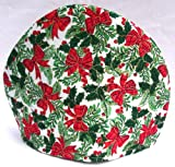Christmas Print Fabric Tea Cozy - Lined and Padded