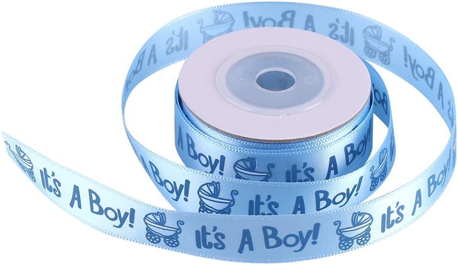 01 10 Yardas//Rollo ES UN NI/ÑO//CHICA Azul Rosa Baby Shower Bautizo Party Favor Stain Ribbon IT IS A BOY//GIRL