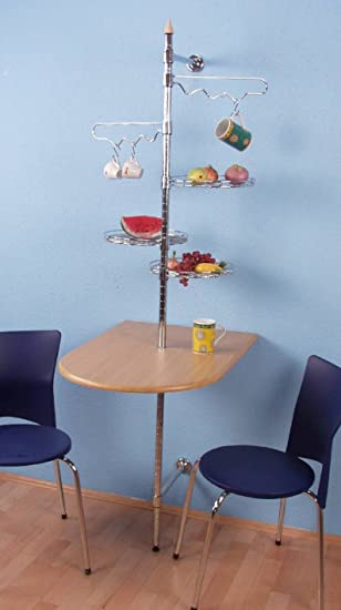 Wandtisch küche  Wandtisch Abbateggio 60x80cm Buche-Nachbildung: Amazon.de: Küche ...