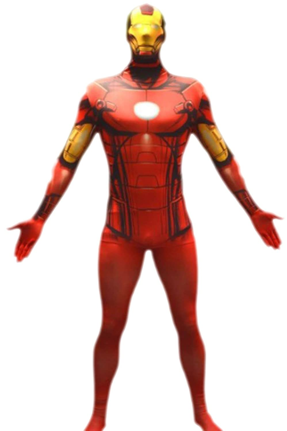 Luxuspiraten - Herren Marvel Iron Man, Comic, Cosplay, Kostüm, XS, Rot
