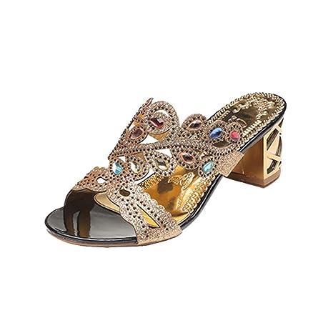 0212a0429ae Clearance Hot Sale! ❤️Rhinestone Summer Womens Wedge Sandal Glittery  Decoration Wedding Shoes Dress Shoes