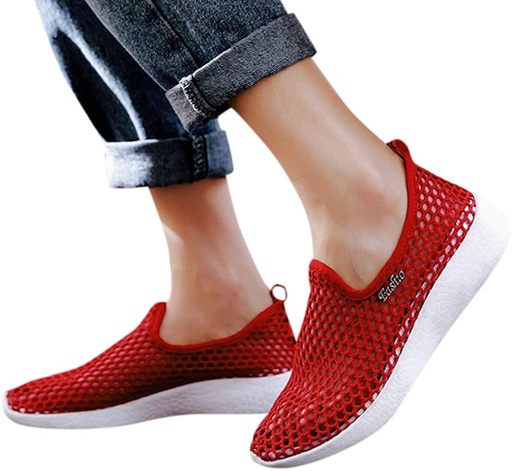 Baskets Femmes Sneakers sans Lacets Chaussures De Sport Slip-on L/éGer Antid/éRapant pour Femme Chaussures De Course