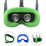 Esimen VR Silicone Face Cover for Oculus Quest Face Cushion Pad Cover Sweatproof Lightproof (Green)