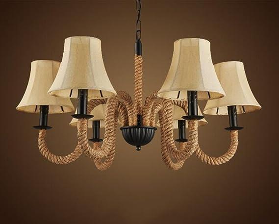 Lampadario Stile Rustico : Lampadari stile rustico americano lampadario di canapa europeo e