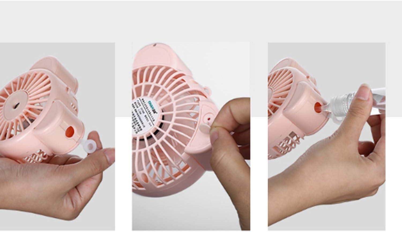 XIAOF-FEN Small Bear Mini Fan USB Portable Handheld Desktop Electric Fan Night Light Large Wind Cooling Fan USB Fan