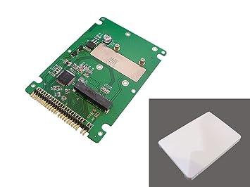 SSD mSATA a 44 pin 6,35 cm adaptador IDE con funda: Amazon ...