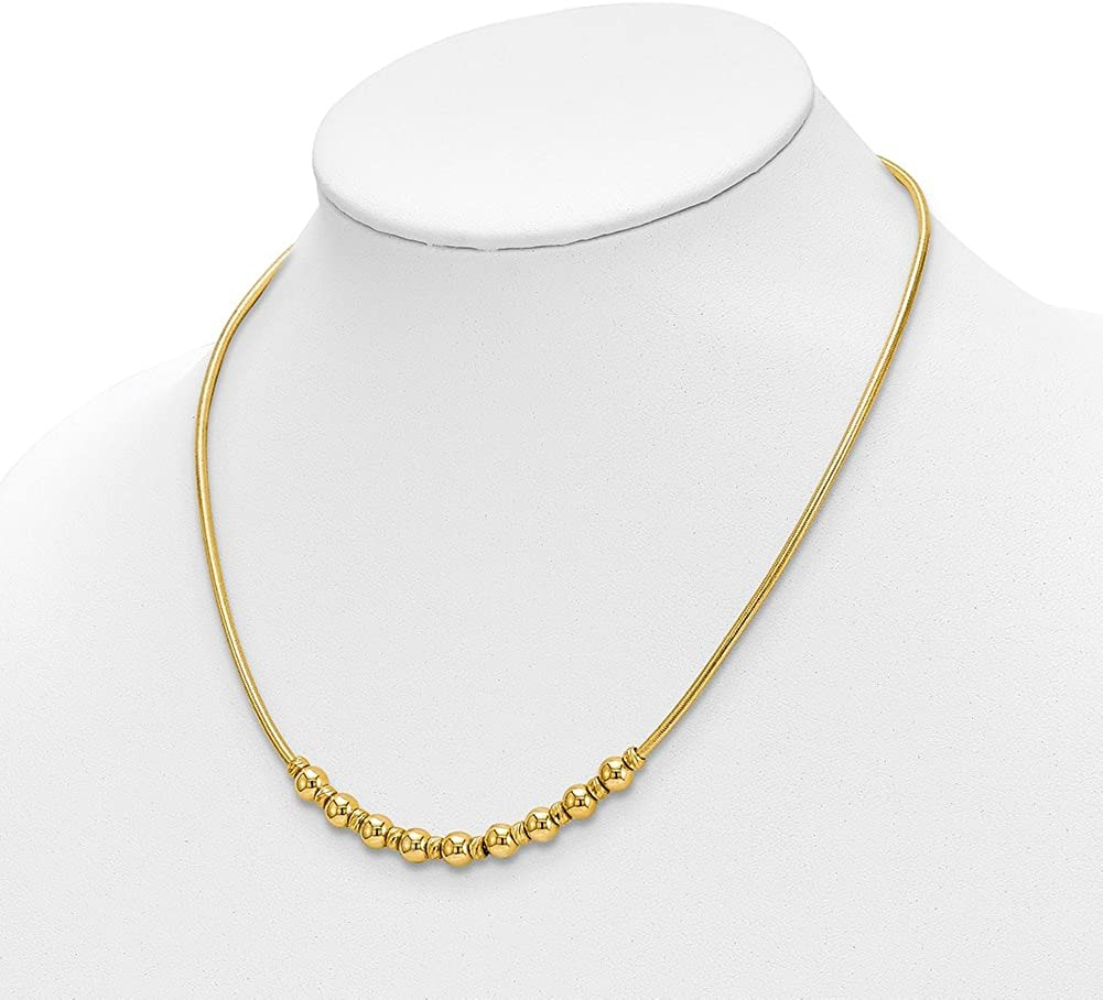 Lex /& Lu Leslies Sterling Silver Gold-tone Magnetic Clasp Necklace