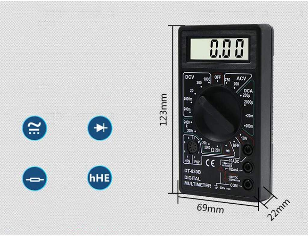 KESOTO 4 in1 DT-830B Multimeter Ohmmeter Spannungsmesser Strommessger/ät Diodentest