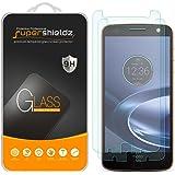[2-Pack] Supershieldz for Motorola Moto Z Force Droid Tempered Glass Screen Protector, Anti-Scratch, Anti-Fingerprint, Bubble Free, Lifetime Replacement Warranty