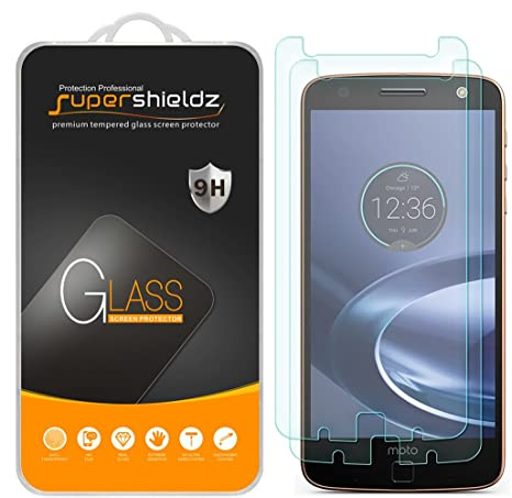 moto 2 z force. [2-pack] supershieldz for motorola moto z force droid tempered glass screen protector 2 n