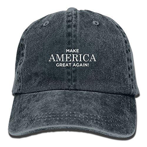 omized Unisex Make America Great Again Vintage Jeans Adjustable Baseball Cap Cotton Denim Dad Hat ()