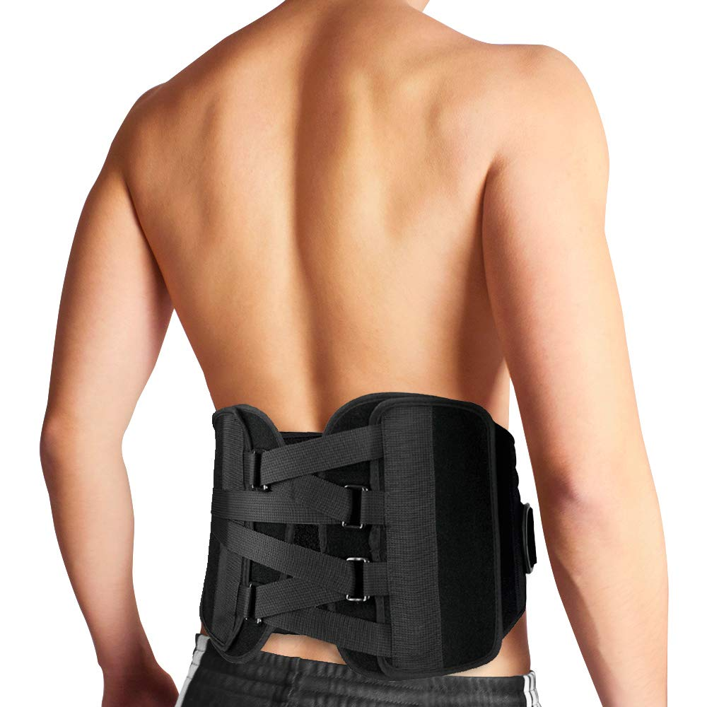 Bracoo Lumbar Brace, Lower Back Support Belt for Chronic Pain Relief, Sciatica & Posture Corrector - Advanced, Ultra-Customizable, Versatile with Quad-Spring Stabilizers, BB30, Large/X-Large