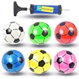 Soccer Ball Toys for Kids, 6PCS Colorful Kids Mini Toy Soccer Football for Toddlers, Plastic Inflatable Toy Soccerball…