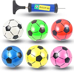 Boys Girls Toy Soccer Ball Toddlers Kids Inflatable PVC Soft Sports Ball Toy