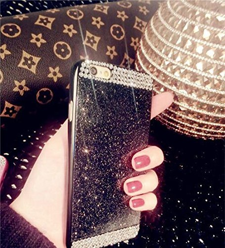 Apple iPhone 5C Diamond CaseVandot skinny accommodate 3D Bling Sparkling gem Rhinestone Unique structure PC Hard Back Cellphone CoverHigh high-quality Anti Scratch Protective skin Shell Black Cables