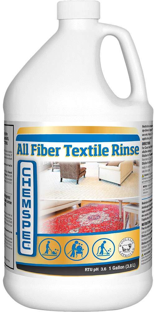 Chemspec All Fiber Textile Rinse – Professional Carpet and Textile Rinse, Liquid Concentrate, 4 pk, 1 gal