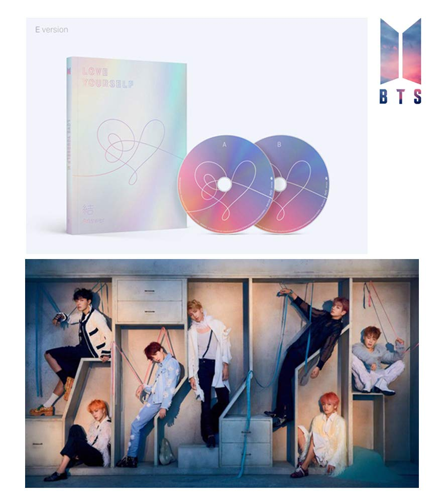 BTS Music LOVE YOURSELF Answer Album BANGTAN BOYS [E Ver.] 2CD + Official Poster + Photo Book + Photo Card + Sticker Pack + Store Gift