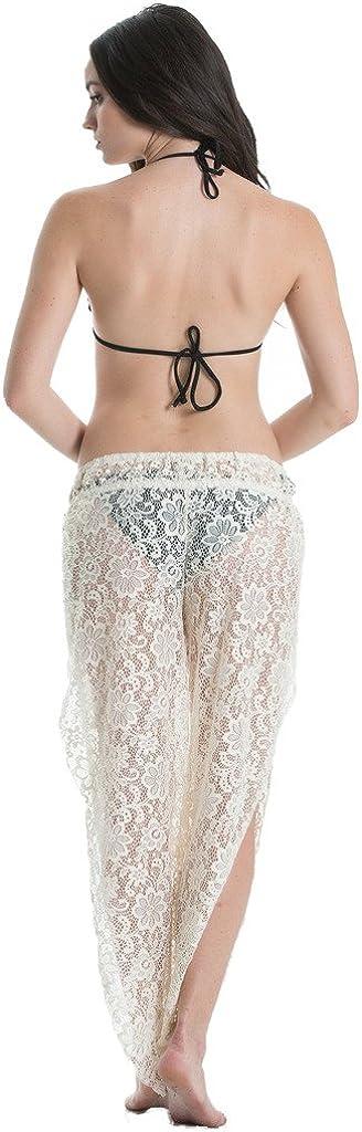 Elan Wrap Pant with Open Leg Black