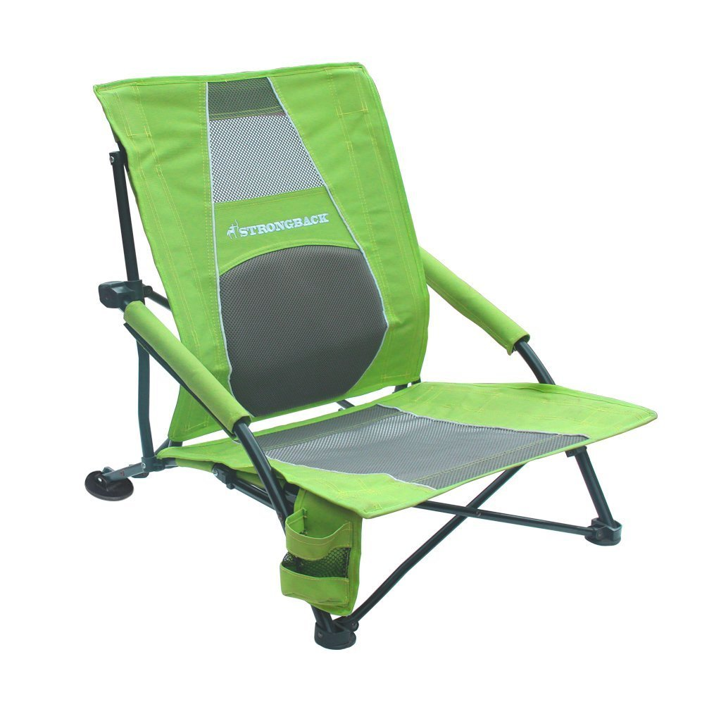 STRONGBACK Low Gravity Beach Chair with Lumbar Support [並行輸入品] B0742F5F8Y