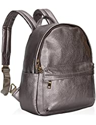 Hynes Victory PU Leather Girls Backpack Small Casual Backpack Purse for Woman