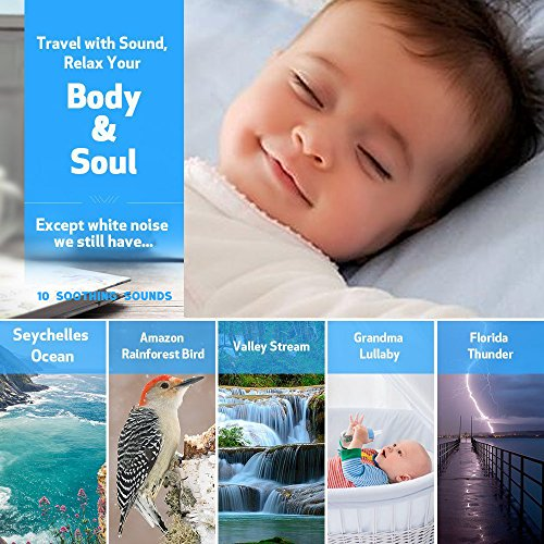 White Noise White Noise Cancelling Machine with Night Sleep Sound Travel Sleep Auto-Off Timer for Baby Kids