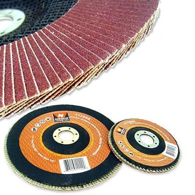 "20 New 4 1/2"" Neiko 120 Grit Sanding Flap Discs Bevel Grinding Sanding Wheels"