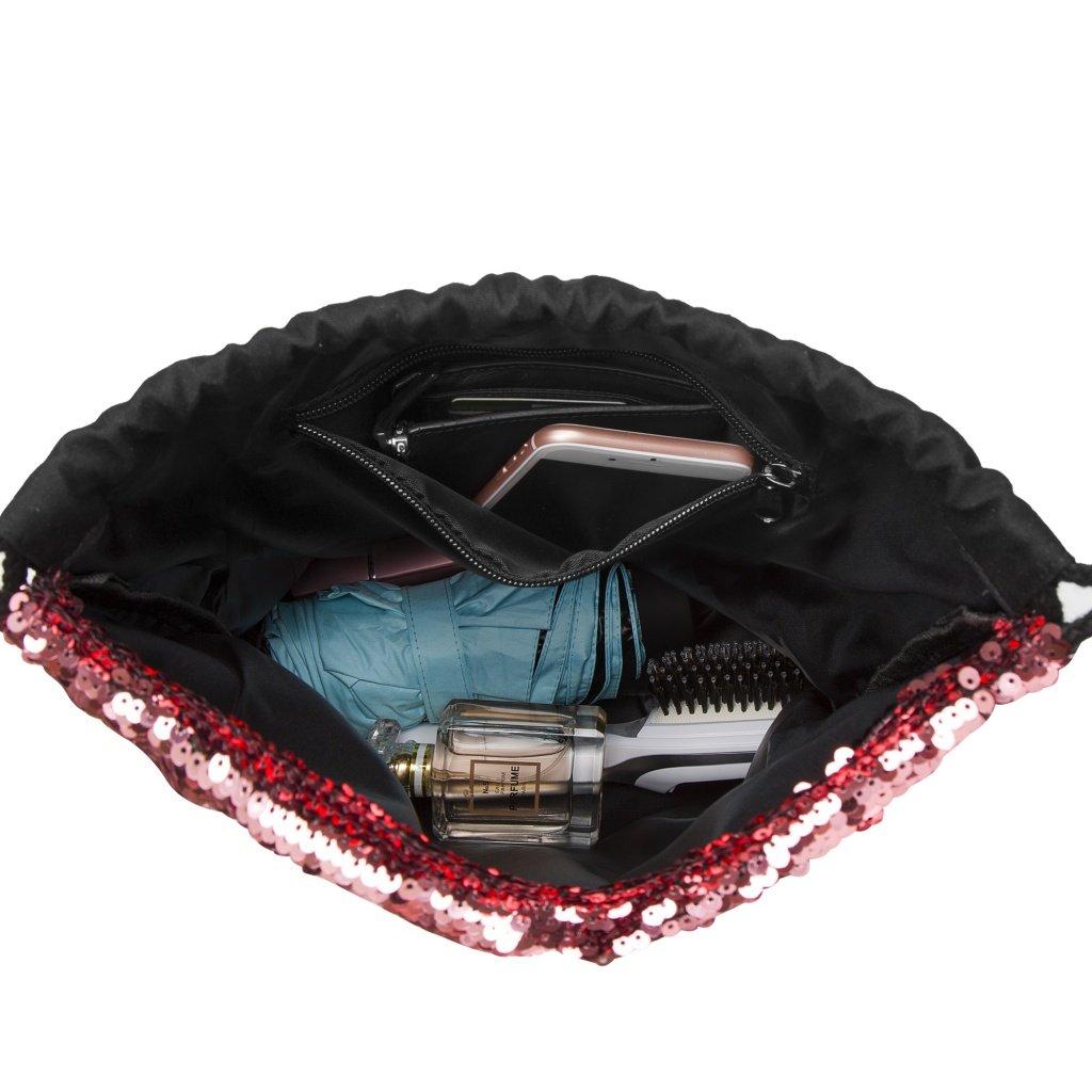 Bling Bag Jute-Beutel Glitzer einfarbig Turnbeutel Lady Donovan Sportbeutel Tasche