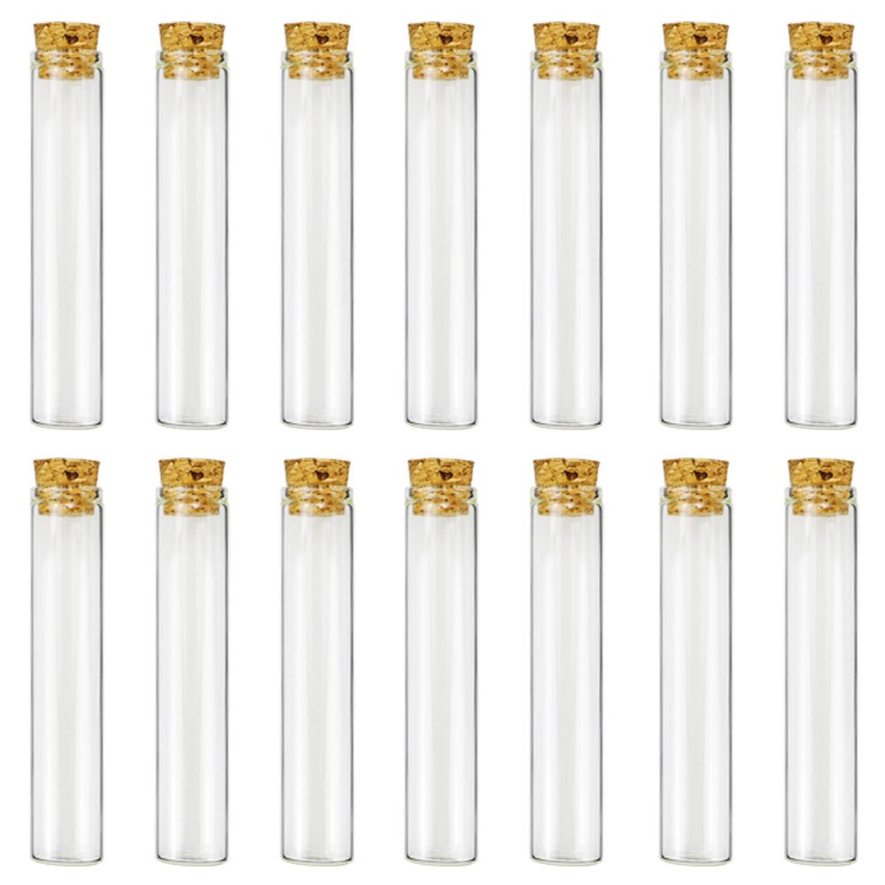 Glass Test Tubes - 30pcs 25ml Clear Flat Test Tubes with Cork Stoppers, 20×100mm by DEPEPE by DEPEPE