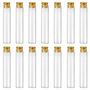 Glass Test Tubes - 30pcs 25ml Clear Flat Test Tubes with Cork Stoppers, 20×100mm by DEPEPE