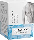 Sugar Wax Kit - Wax Hair Removal For Men and Women - Body Wax - All Skin Types - At Home Waxing Kit With 10 Oz Sugar Wax…