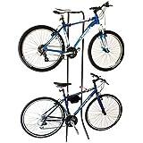 Gravity Bicycle Rack Holds 2x Bikes Adjustable Storage Stand Bike Cycle
