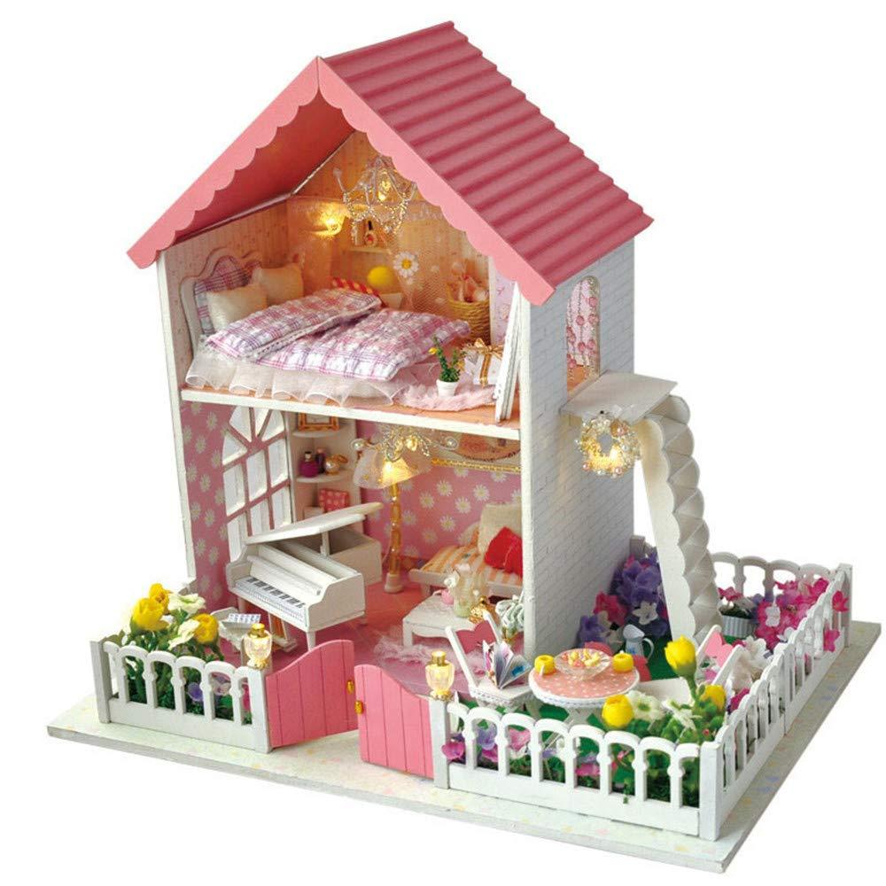 Maison de bricolage miniature Bricolage Maison BÂtiHommest Modèle Secret Jardin Creative Anniversaire Présent En Bois Artisanat Jouets Pour Enfants Mini Maison Rénovation Maison De Poupée DIY - Cadeau De