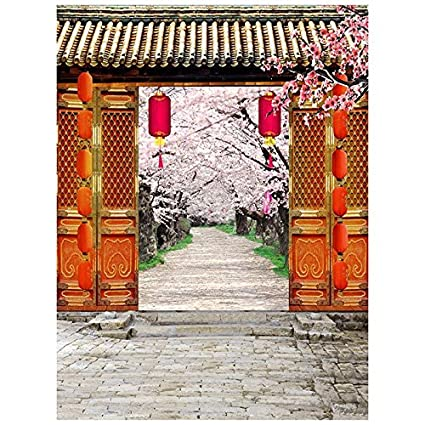 sodialr 3x5ft vinyl red chinese lunar new year spring festival theme party wall